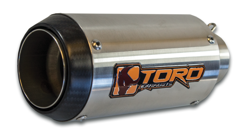 Toro GP Exhaust With The Matt Carbon Cap and Brushed Steel Body Finish